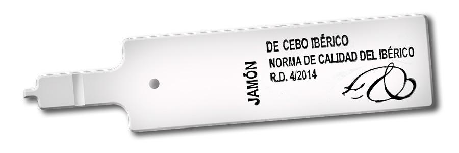 Etiqueta blanca jamón
