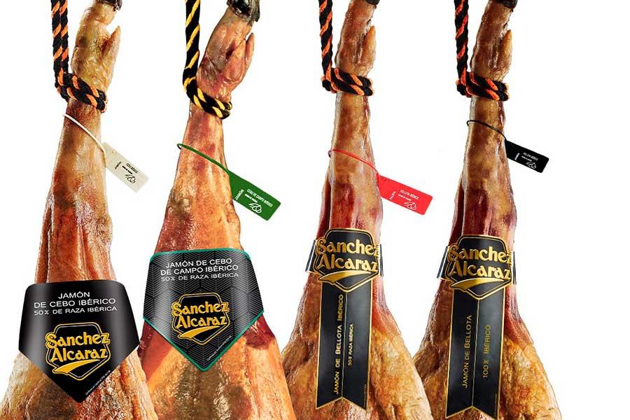 Etiquetado tipos de jamon